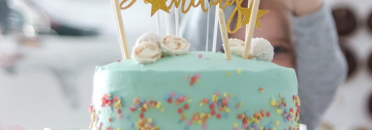 Rezept für eine schnelle & einfache Geburtstagstorte