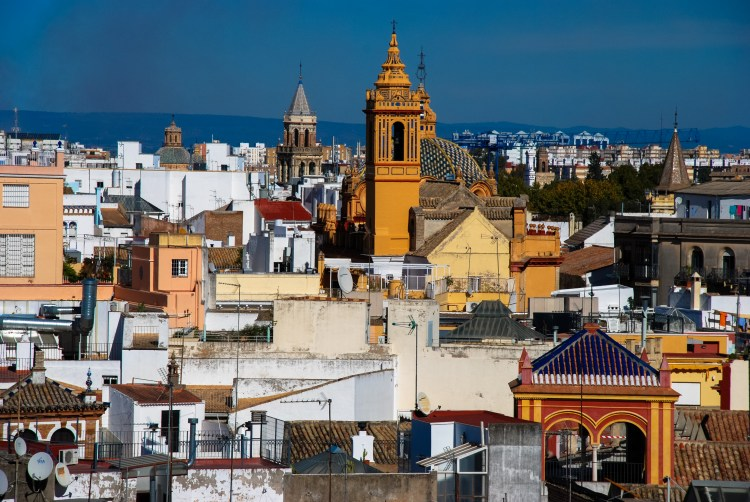 Looking over the city of Sevilla.