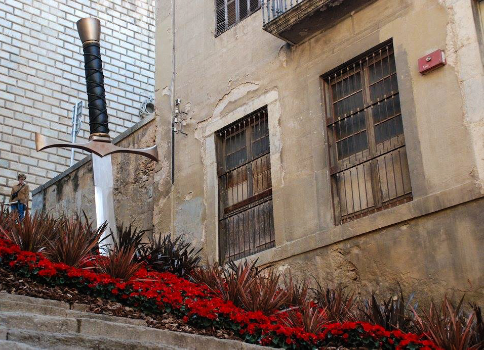 Sword in Stone, Girona flower festival. May 2016