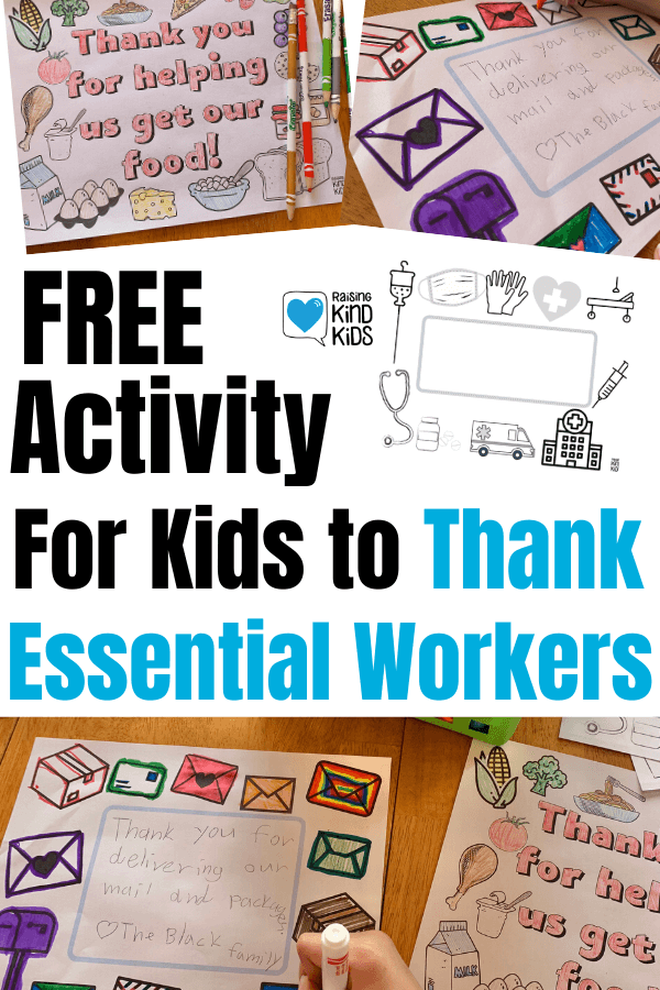 How To Help Kids Thank Essential Workers