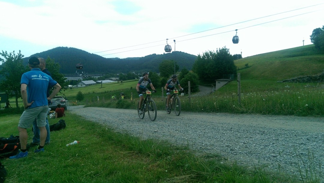 Tim und Daniel beim Rocky Mountain BIKE Marathon in Willingen