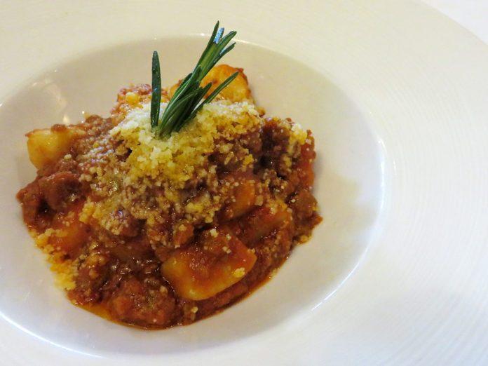 Trattoria Nonna Lina—Gnocchi in Beef Bolognese Sauce