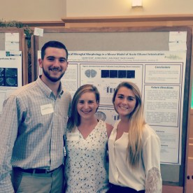 Jordan, Lauren and I in front of their poster at Moravian