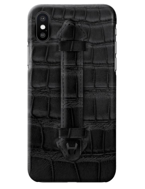 Hadoro Black Alligator Finger Case for iPhone X