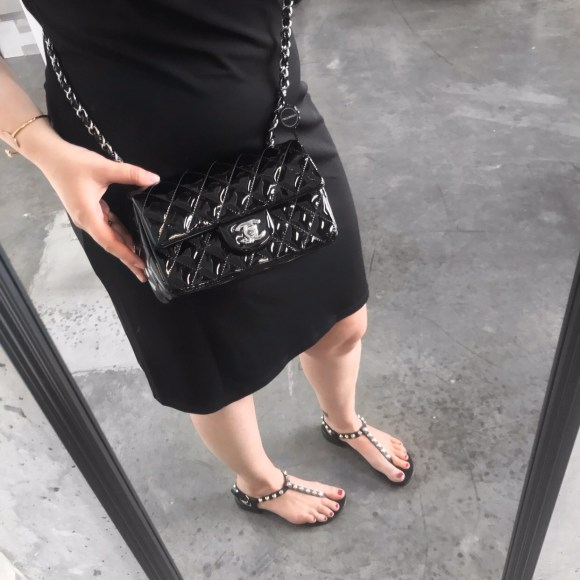Chanel Black Patent Leather New Mini Classic Flap Bag | CoffeeAndHandbags.com