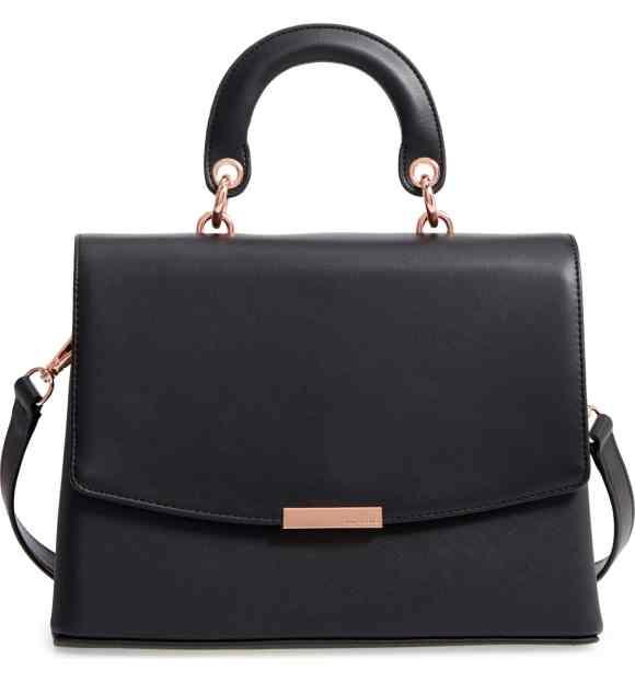 Ted Baker London Keiira Lady Bag Faux Leather Top Handle Satchel Bag