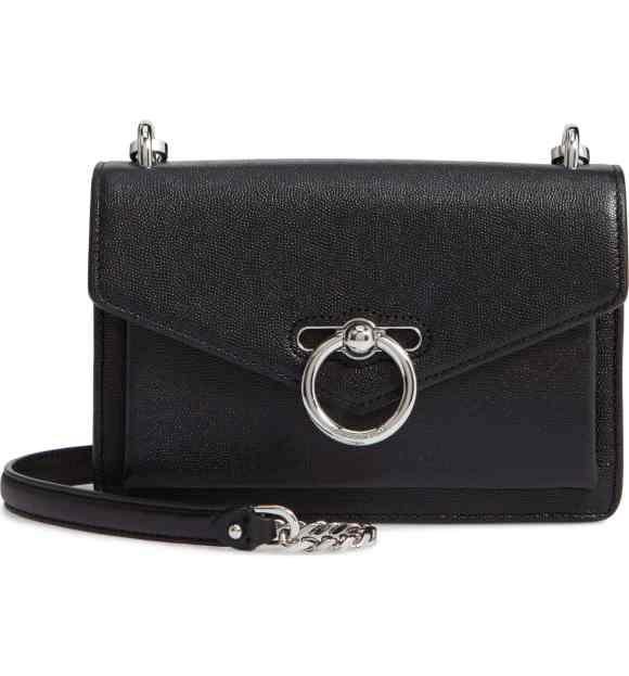 Rebecca Minkoff Black Leather Jean Crossbody Bag