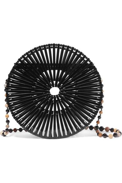 Cult Gaia Black Acrylic Luna Bag | Best Round Bags for Spring 2019 | CoffeeAndHandbags.com