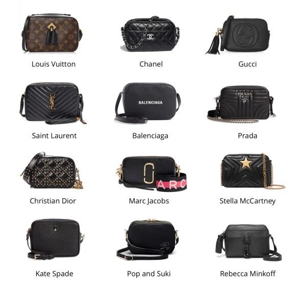 12 Best Designer Mini Camera Bags Infographic | Coffee and Handbags Fashion Blog