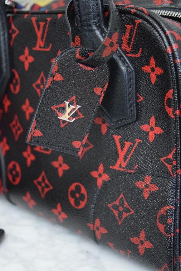 Louis Vuitton Black/Red LV Monogram Infrarouge