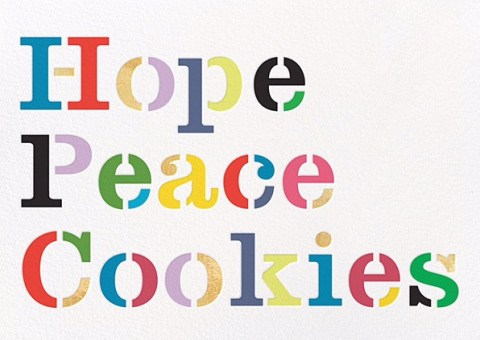 hope peace cookies kate spade