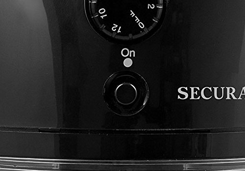 Secura SCG-903B automatic electric burr coffee grinder mill reviews