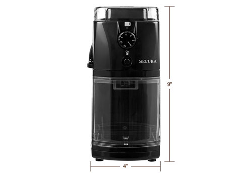 Secura automatic electric burr mill coffee grinder review
