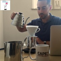 Pahedon pouring in Cape Coffee Beans Office