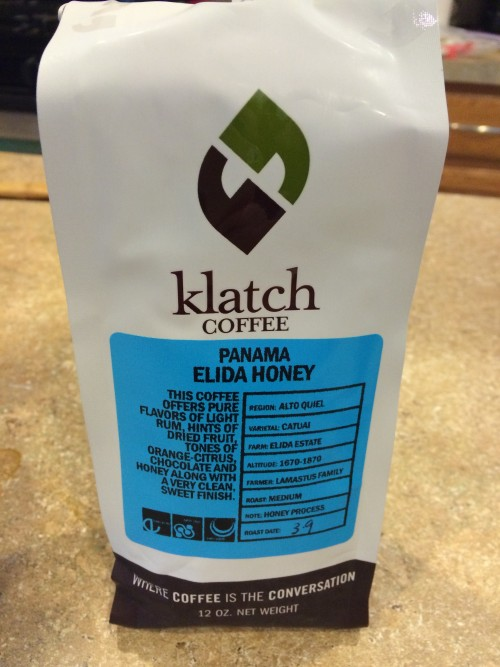 Review: Klatch Coffee Panama Elida Honey (Upland, California)