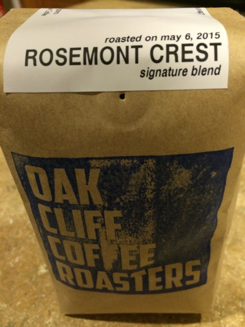 Review: Oak Cliff Coffee Roasters Rosemont Crest blend (Dallas, Texas)
