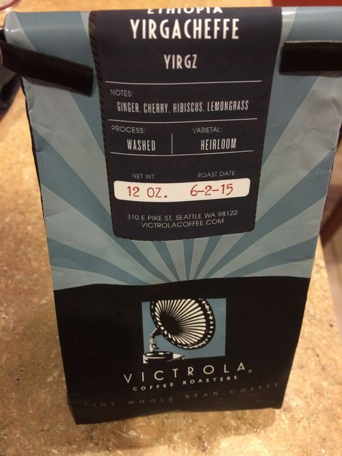 "Review: Victrola Ethiopia Yirgacheffe ""YIRGZ"" (Seattle, Washington)"