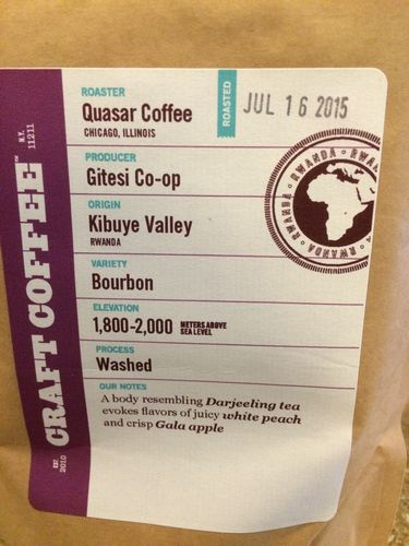 Review: Quasar Coffee Rwanda Kibuye Valley (Chicago, Illinois)