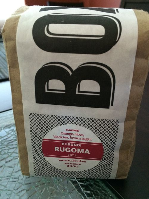 Review: Boxcar Coffee Roasters Burundi Rugoma Lot 5 (Boulder, Colorado)