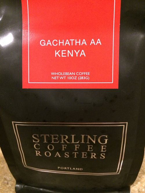 Review: Sterling Coffee Roasters Kenya Nyeri Gachatha AA (Portland, Oregon)