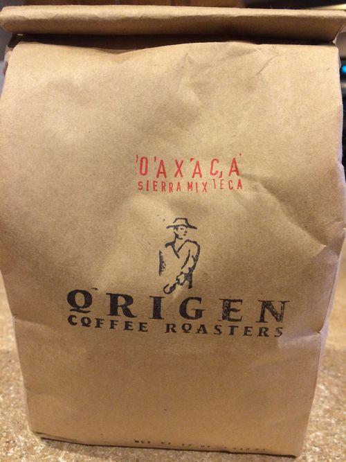 Review: Origen Coffee Roasters Mexico Oaxaca Sierra Mixteca Organic (Escondido, California)