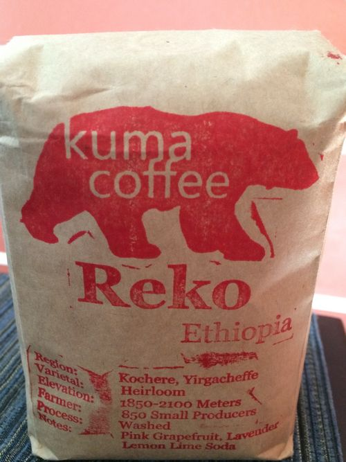 Review: Kuma Coffee Ethiopia Reko (Seattle, Washington)