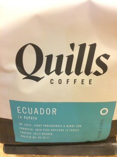 Review: Quills Coffee Ecuador La Papaya (Louisville, Kentucky)
