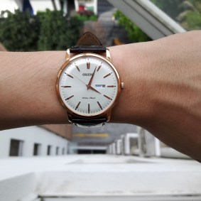 Orient Bambino in rose gold