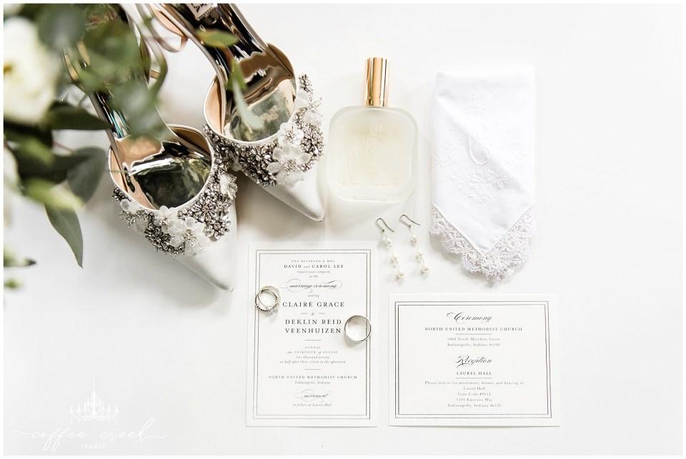 Wedding details spread at Laurel Hall wedding