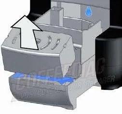 eau dans le bac recuperation capsules cafe