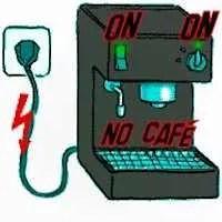 machine à café expresso allumée mais ne fonctionne pas, ne marche pas.