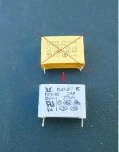 condensateur 0.47uf-275v