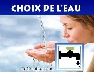Eau de bouteille ou eau publique? - Machine à café