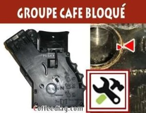 groupe bloqué machine a café expresso bloc coincé comment inserrer