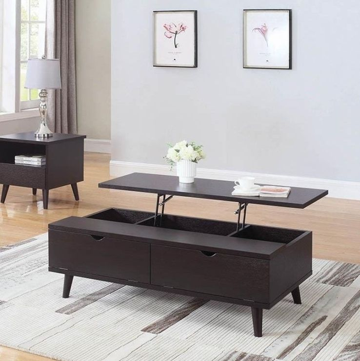 lift top coffee table storage