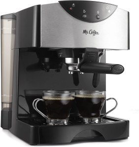 Mr coffee dual shot espresso machine