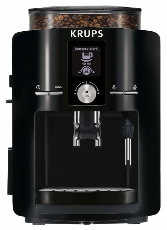 KRUPS EA8250001 Espresseria Full Automatic Espresso Machine with Built-in Conical Burr Grinder