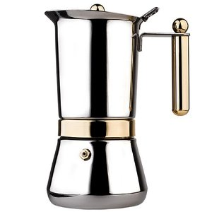Vev Vigano 8160 Vespress Gold 12 to 14-cup Coffee Pot