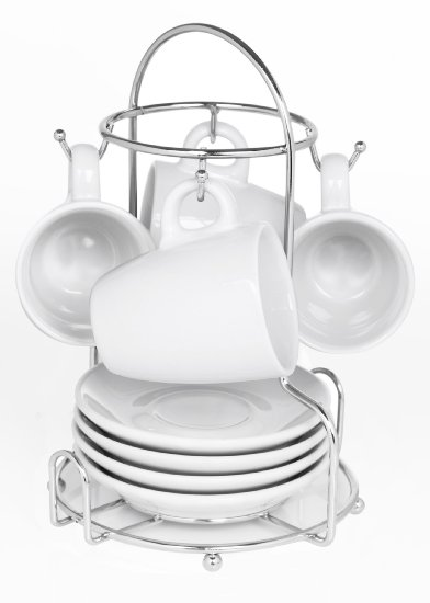 Imusa Espresso Set with Chrome Rack, 8 Piece