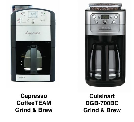 Capresso vs Cuisinart Grind and Brew