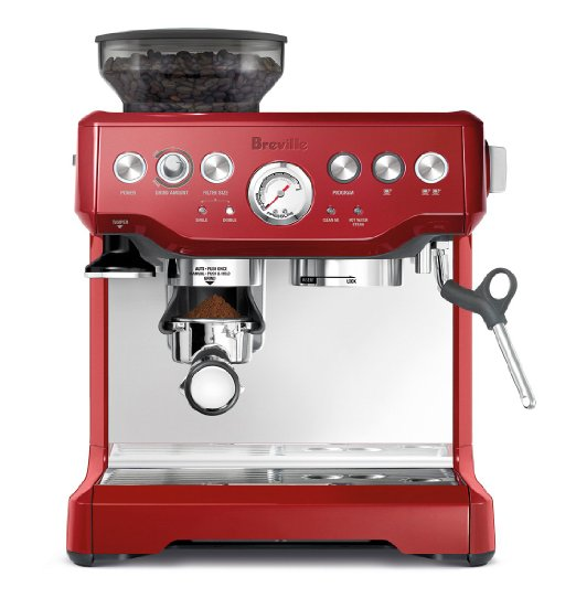 Breville BES870BSXL The Barista Express Coffee Machine, Red