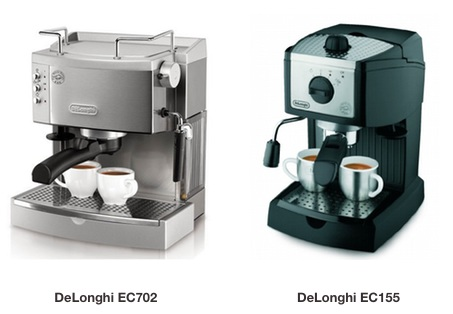 DeLonghi EC702 vs EC155