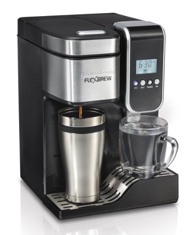 Hamilton Beach 49988 FlexBrew Programmable Single-Serve Coffeemaker with Hot Water Dispenser