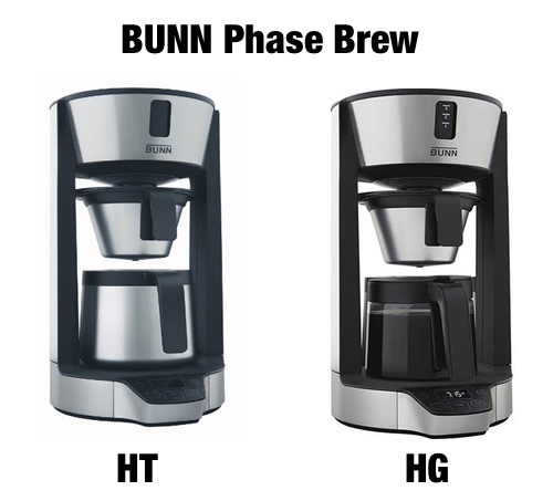BUNN Phase Brew HT vs HG