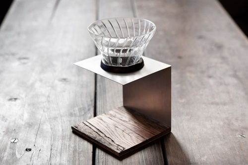 Reclaimed Wood Coffee Dripper Pour Over Brewer Stand