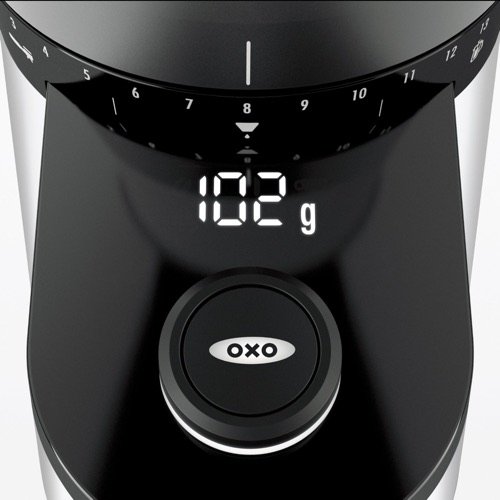 OXO On Conical Burr Coffee Grinder with Intelligent Dosing Scale_