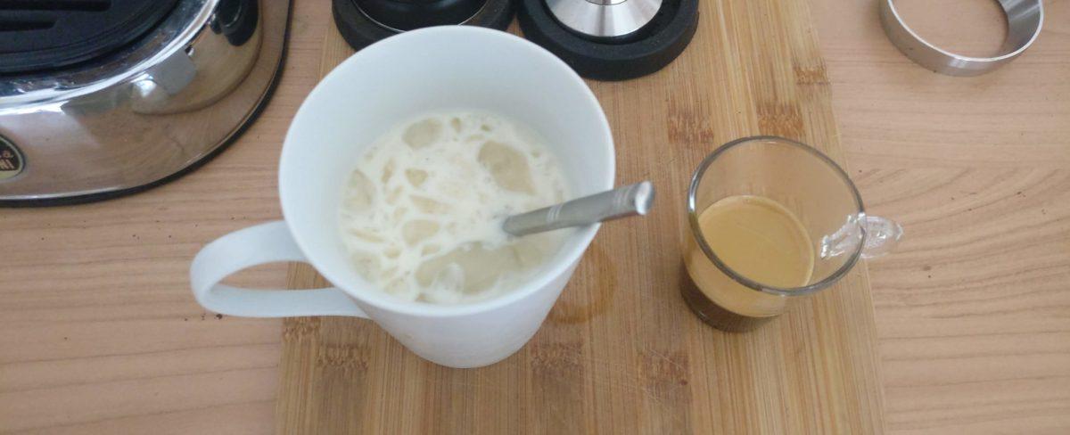 Coffee recipe: iced coffee with sweetened milk
