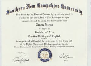 BA Degree from SNHU