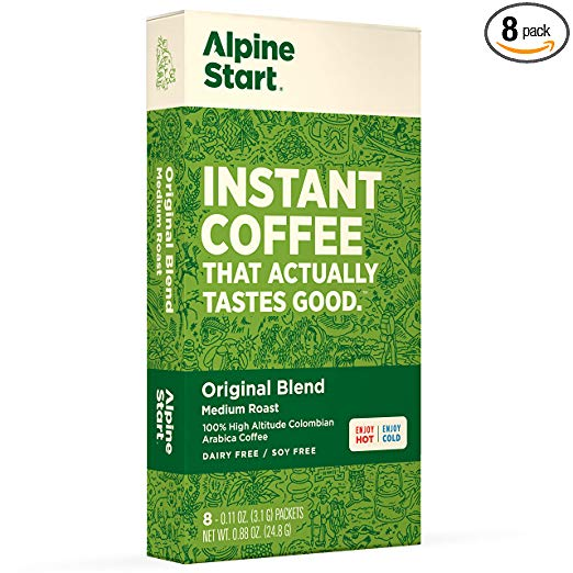 Alpine Start instant coffee coffeeinblog