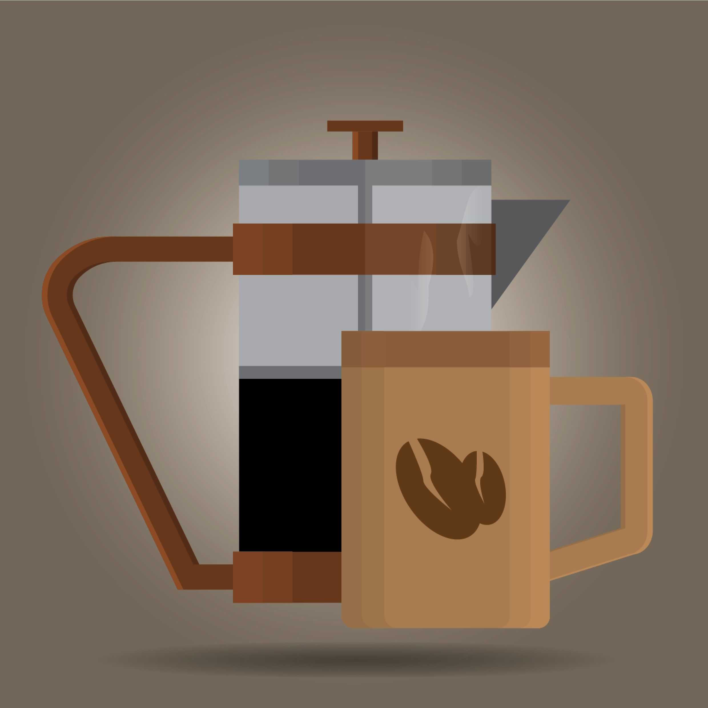 French Press Type of Coffee brewing